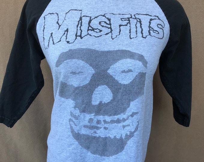 Misfits Crimson Ghost Band Shirt (S) -Danzig Horror Punk Jerry Only 3/4 Sleeve Baseball Style Jersey Ramones Rancid Social Distortion DRI
