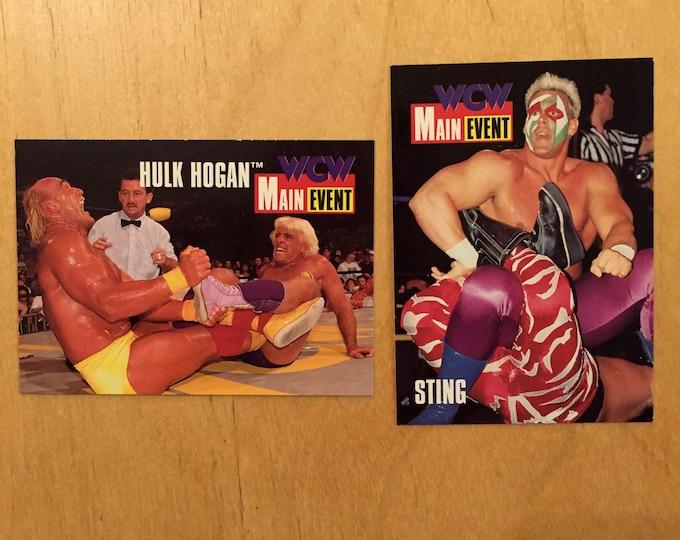WCW Wrestling Promo 2 Trading Cards Ric Flair Hulk Hogan Becky Lynch Seth Rollins Brock Lesnar Charlotte Flair Samoa Joe AJ Styles Smackdown