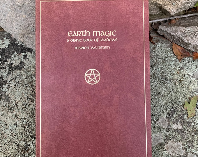 Vintage 1986 Earth Magic Softcover Book Witch Occult Tarot witches Witchy Salem Coven Pagan Folk Magic Fairy Lore Herb Craft Pentacle Witchy