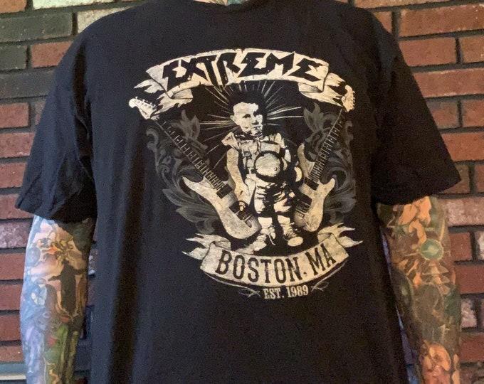 Extreme Band Shirt - Sz (XXL)  Boston Nuno Bettencourt Gary Cherone More Than Words Van Halen Godsmack Mr Big Dream Theater Def Leppard