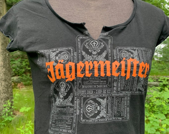 Altered Jagermeister Jagerbomb  Party Top (Ladies L) tee shirt Tshirt Booze Drinking Games Party Party Time Shots Alcohol Liquor