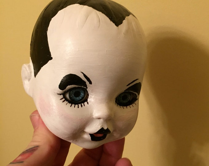 Klaus Nomi Hand Painted Doll Head Opera David Bowie Dolls New Wave Total Eclipse Mudd Club Punk Nina Hagen Lene Lovich Pete Burns Boy George