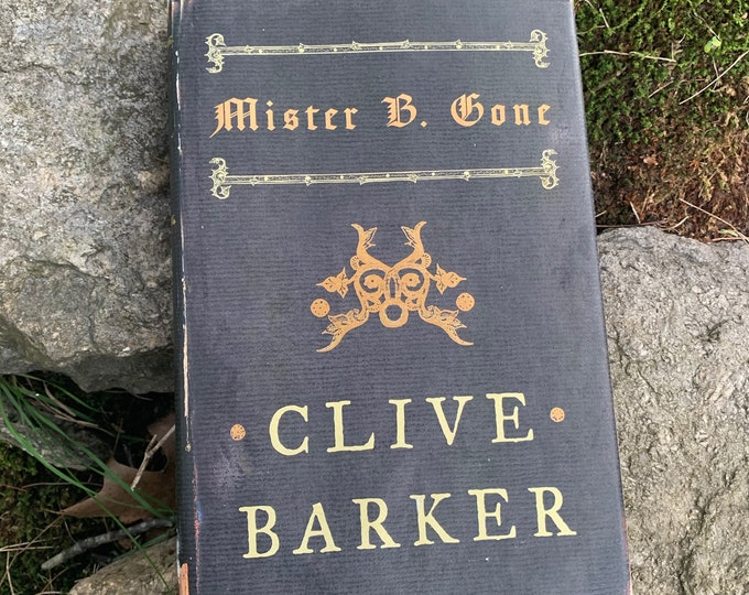 Clive Barker Mister B. Gone Hardcover Book 2007 Occult Novel Ritual Witch Witchcraft Michael Myers Hellraiser Serial Killers Wes Craven
