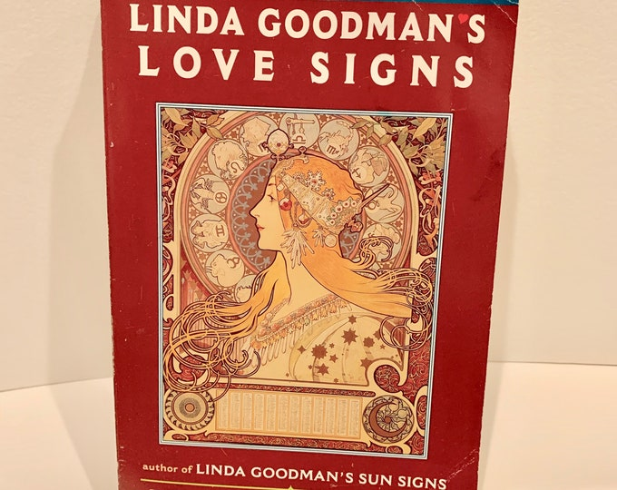 Vintage 1978 Linda Goodmans Love Signs Astrology Softcover Book Witch Horror Occult Psychic Gypsy Crystals Tarot Cards Witchcraft Religion