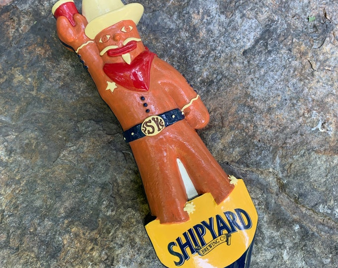 Shipyard Brewery Gingerbreadhead Beer Tap Handle Ale Brew Pub Brewer Brewing  PartyTime Busch Dos Equis Boston PBR Samuel Adams New England