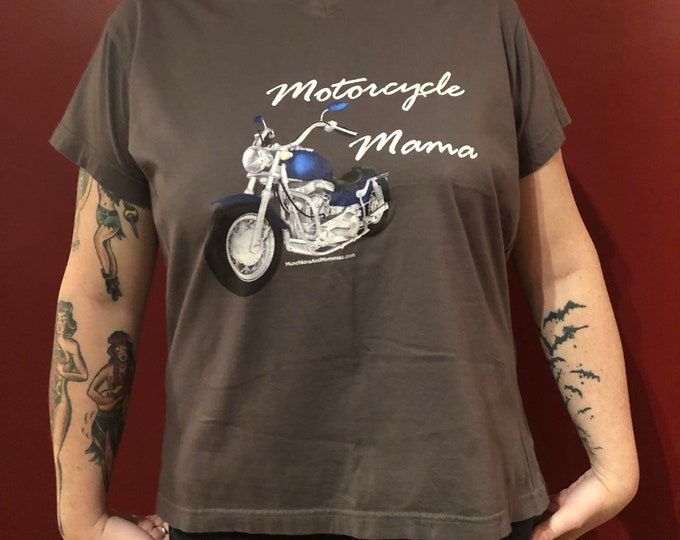 Sexy Womens Motorcycle Mama Motorcycle Tshirt Sz Ladies (L) Biker Bikers Live Free Ride Free Softail Sportster Motorcycles Harley Davidson