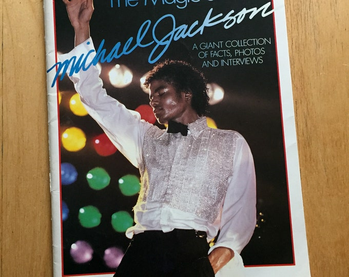 Vintage Michael Jackson Softcover Book - 1984 -  The Magic of Michael Jackson - Jackson Five Thriller Bad Motown Grammys Quincy Jones