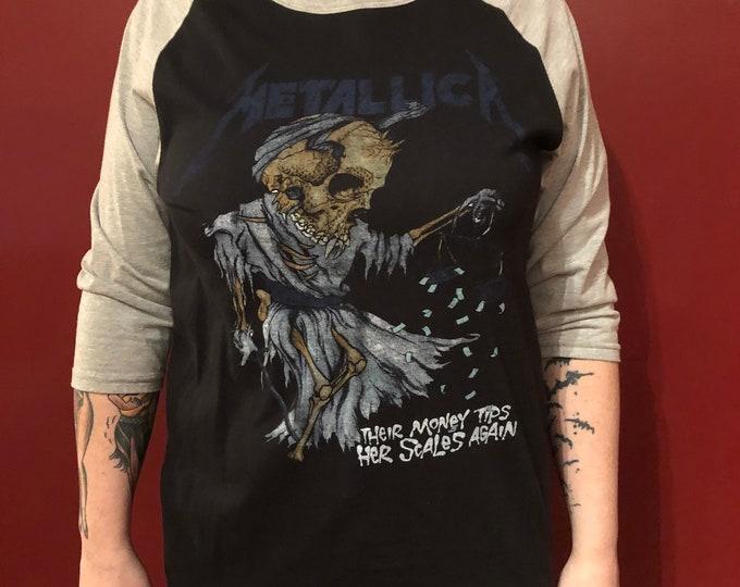 Metallica band shirt (L) HeavyMetal Kirk Hammett James Hetfield Lars Ulrich Cliff Burton Megadeth Metalhead Robert Trujillo Skull Skulls