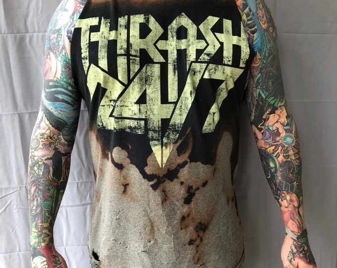 Distressed The Showdown Band shirt (Large)  Band Tee Demon Hunter Living Sacrifice Becoming the Archetype Haste the Day Thrash Still Remains
