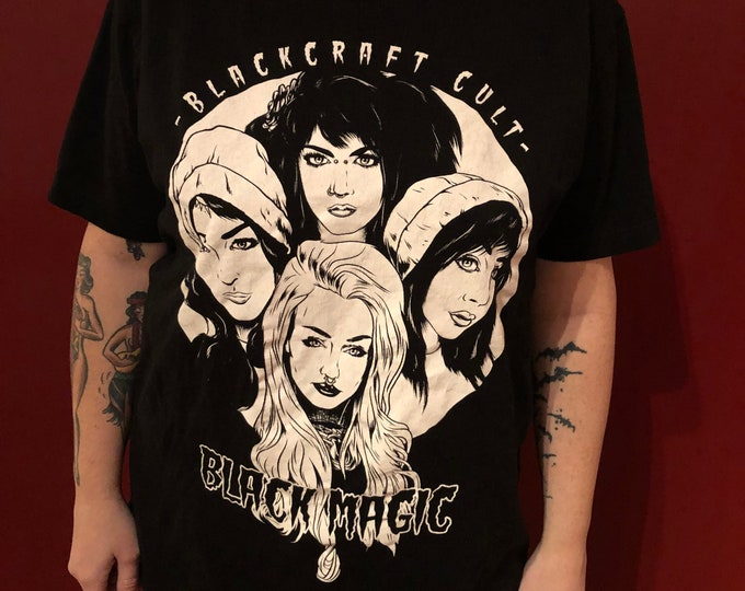 Blackcraft Cult Moon Tshirt (L) Witch Luna Lunar Goth Gothic Metal GothGoth Occult Ouija Moons Witchcraft Witchy Cosmos Pagan Magick Magic