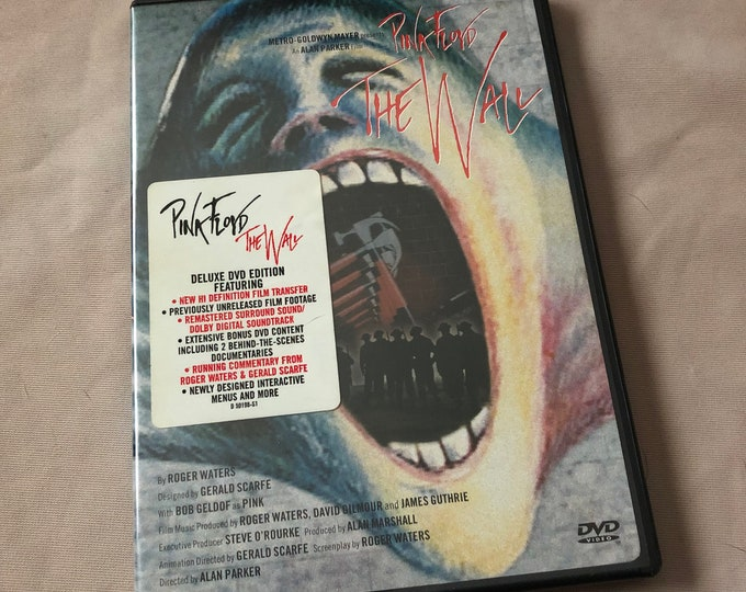 Pink Floyd The Wall  DVD David Gilmour - Roger Waters Nick Mason Syd Barrett  Prog Rock Bob Geldof Classic Rock Genesis ELP Jethro Tull