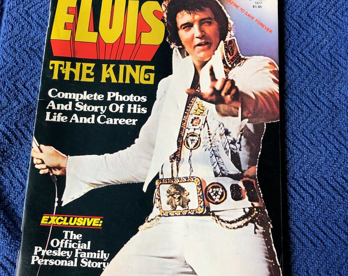 Vintage 1977 Elvis Presley Magazine Full Color Centerfold Graceland Memphis Viva Las Vegas Jailhouse Rock Heartbreak Hotel Tom Jones Oldies