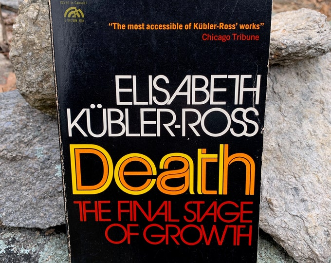 Vintage Death The Final Stage of Growth 1975 Softcover Book Dead Dying Funeral Mortician Coroner Goth Obituary Cemetery Memorial Sympathy