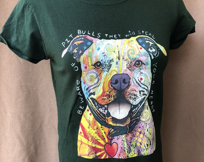 Pitbull Bully Breed Tshirt  (Ladies S) Staffordshire Bull Terrier Pitbulls Pitty Party Dog Dogs Pets Rescues Dogs Puppy Puppies Love AKC