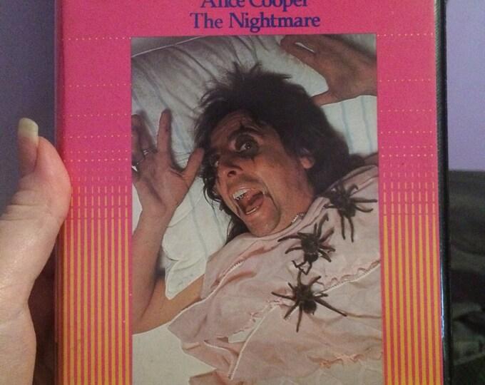 Alice Cooper - The Nightmare VHS Welcome to my Nightmare Vincent Price Shep Gordon Bob Ezrin Tarantulas Schools Out Im Eighteen Shockrock