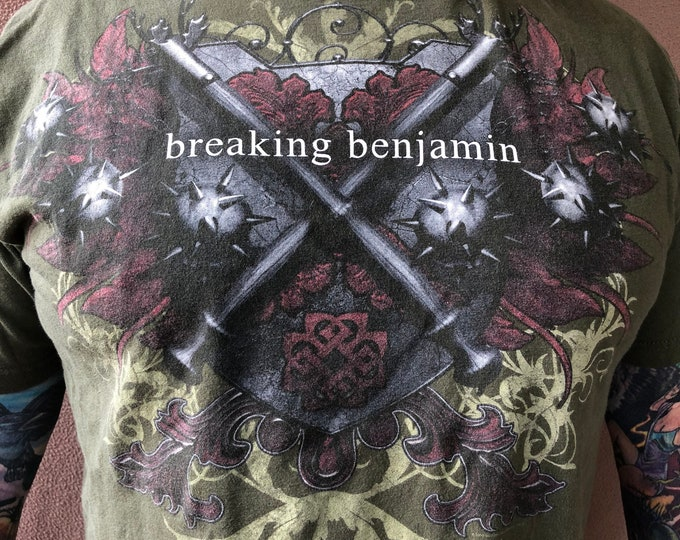 Breaking Benjamin Band Shirt (XL) Chevelle Three Days Grace ffdp Seether Papa Roach Linkin Park Avenged Sevenfold Yelawolf Trapt Stained