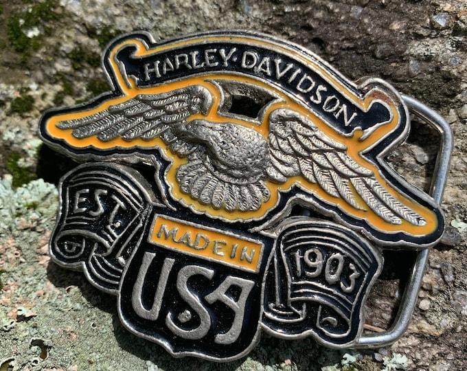 Vintage Harley Davidson Belt Buckle Biker Bikers Motorcycles Eagle Outlaw Easy Rider Road King Sturgis SOA Fat Boy Sportster Hells Angels