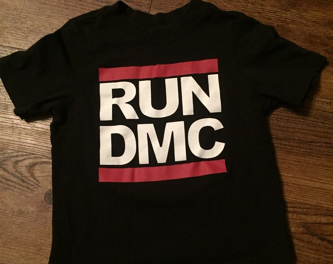 RUN DMC (Kids 3T) Rap Hip Hop band shirt Rapper Turntables Scratchin Kids clothes Kidstuff rappers LL Cool J Beastie Boys mtv Kurtis Blow