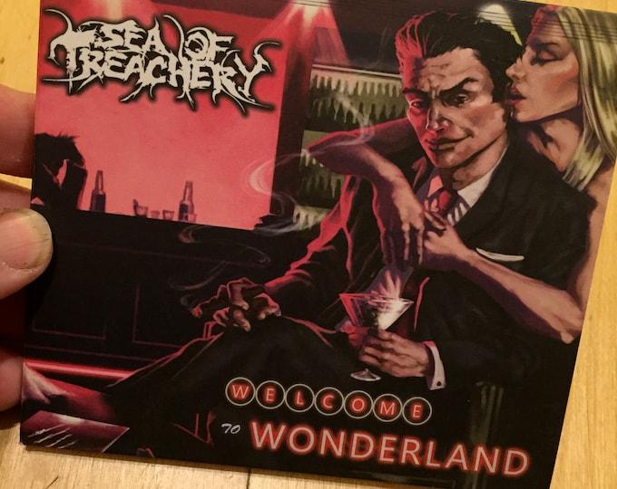 Sea of Treachery CD  Welcome to Wonderland Metalcore Sumerian Records Djent Deathcore CDs  Emarosa Blast Beats Winds of Plague metalhead
