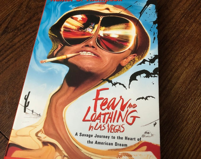VINTAGE 1998 Fear and Loathing in Las Vegas a Novel by Hunter S. Thompson softcover Book Ralph Steadman Jack Kerouac Charles Bukowski Books