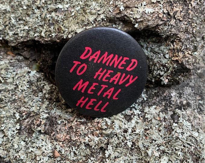 Vintage Heavy Metal Pin Badge Iron Maiden Slayer Metallica Megadeth Judas Priest Behemoth Black Sabbath Ozzy Osbourne Anthrax Sodom ACDC