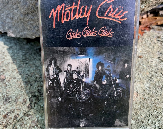 Vintage Motley Crue Girls Girls Girls Cassette Tape Nikki Sixx Mick Mars Vince Neil Tommy Lee The Dirt Dr Feelgood Shout At The Devil Glam