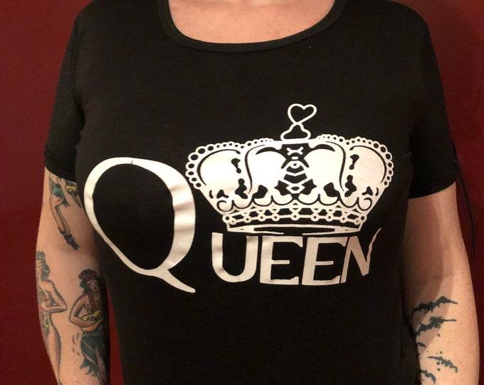 Queen Freddie Mercury Band shirt (Ladies L) Bohemian Rhapsody Band Tee Roger Taylor John Deacon Brian May Sheer Heart Attack David Bowie