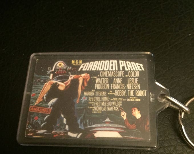 Forbidden Planet Keychain - MGM - Science Fiction - Robby the Robot Sci Fi horror Creature Feature Bmovie Bmovies