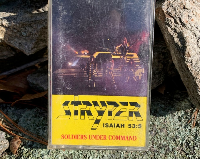 Vintage 1985 STRYPER ISAIAH 53:5 Soldiers Under Command Cassette Tape Michael Sweet Bret Michaels Whitesnake David Lee Roth Cheap Trick