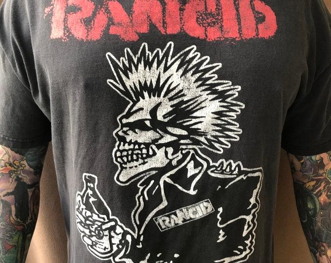 RANCID Vintage band shirt PunkRock Punk Tim Armstrong Lars Frederiksen punks band tee Hellcat Mohawk Skull Punks Operation Ivy Ramones snfu