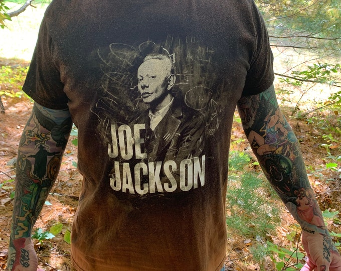 Distressed Joe Jackson Band Shirt (L) Look Sharp Elvis Costello B52s New Wave The Psychedelic Furs Graham Parker Squeeze The Boomtown Rats
