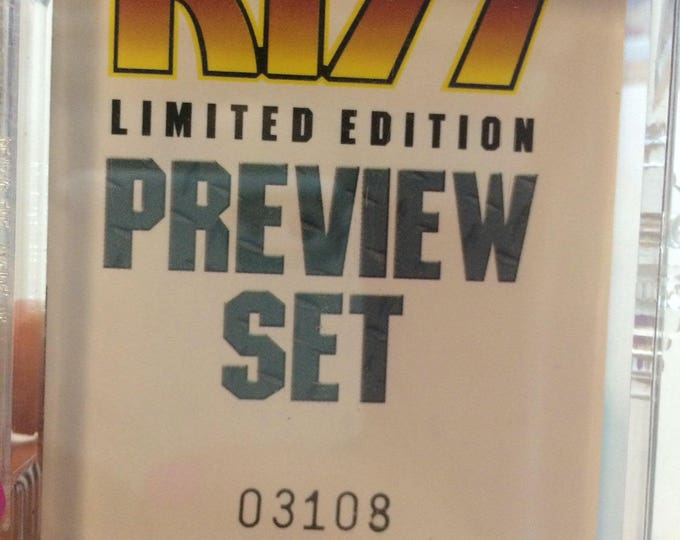 KISS Limited Edition Preview Set Gene Simmons Paul Stanley Peter Criss Ace Frehley Trading Cards Kissband Kissarmy KissAlive Love gun Cards