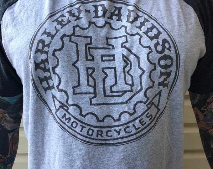 Harley Davidson Gear head Motorcycle Tshirt Biker Sz. XXL