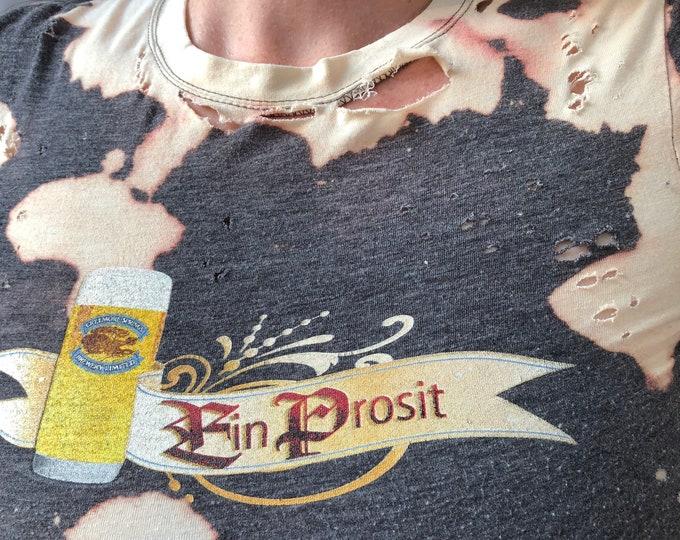 Distressed Ein Prosit Beer shirt (Ladies S) Ale Brew Pub Creemore Springs  Brewing Brewery Party German beer Beerpong Octoberfest Alley Cat