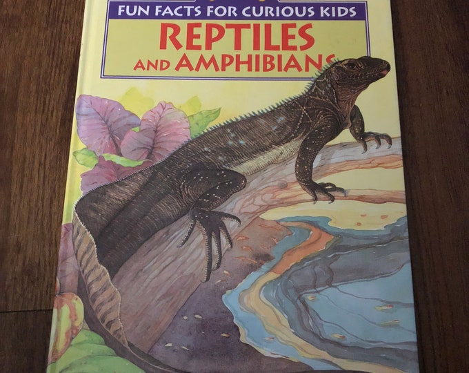 Vintage Golden Book Reptiles and Amphibians hardcover Book 1992 Kids Book Turtle Frog Snake Cobra Iguana Lizards Chameleon Education Science