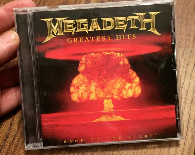 Megadeth Greatest Hits CD  Dave Mustaine Metal Heavy Metal Motorhead Metalhead Peace Sells Thrash Metal Speed Metal Metallica Pantera Sodom