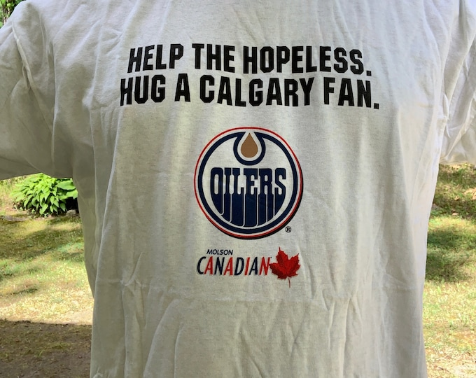 Molson Beer Tshirt Connor McDavid Edmonton Oilers Jari Kurri Mark Messier Steve Smith Glen Anderson Craig Simpson Labatts Steve Smith Ale