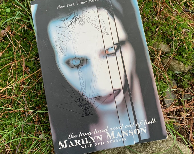 Marilyn Manson  Vintage Softcover Book  The Long Hard Road Out of Hell  Metal Shock Ozzy Osbourne NIN Gary Numan Nine Inch Nails Rammstein