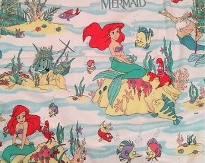 1989 The Little Mermaid Curtain - Like New - Vintage Linen - Vintage Disney - WDW - Disney Classics - Disney Princess Ariel