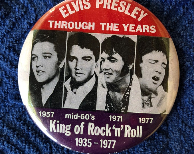 Vintage Elvis Presley Pinback Button Badge Nostalgia Retro Pins Pinbacks The Beatles Chuck Berry Buddy Holly Eddie Cochran Gene Vincent