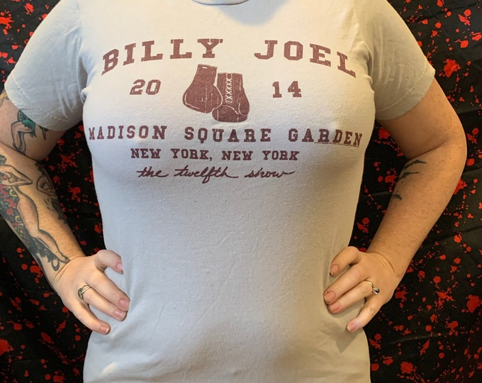 Billy Joel Tour Shirt (Ladies S) Madison Square Garden Piano Man David Bowie George Michael Queen Bruce Springsteen Elton John Ray Charles