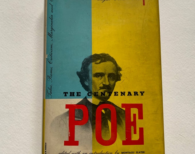 Vintage 1949 The Centenary Edgar Allan Poe Mysteries Paperback Book Vincent Price Gothic Goth Poet Writer Novel Horror The Black Cat Witch