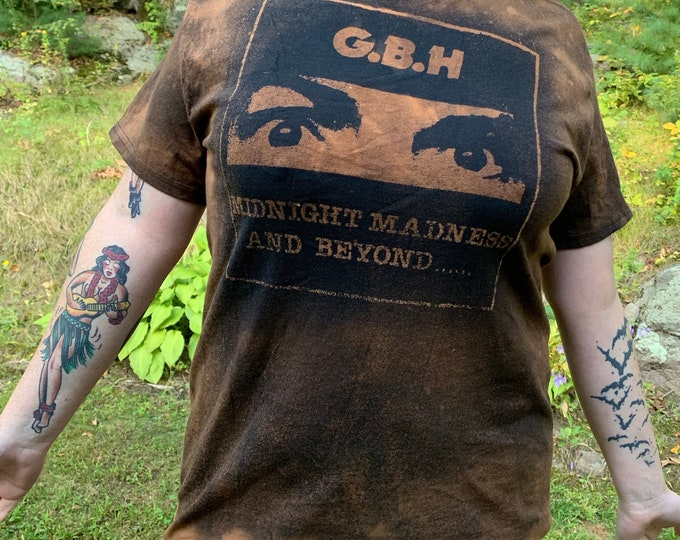 Distressed GBH Band Shirt Punks Not Dead Punk The Exploited The Damned Sham69 Vice Squad Discharge Buzzcocks Subhumans Discharge UK Subs