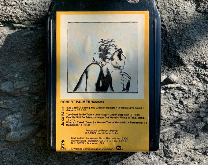 Robert Palmer Secrets 8 Track Tape The Power Station Duran Duran Paul Young Steve Winwood Boz Scaggs Bryan Ferry Arcadia Joe Jackson Go West