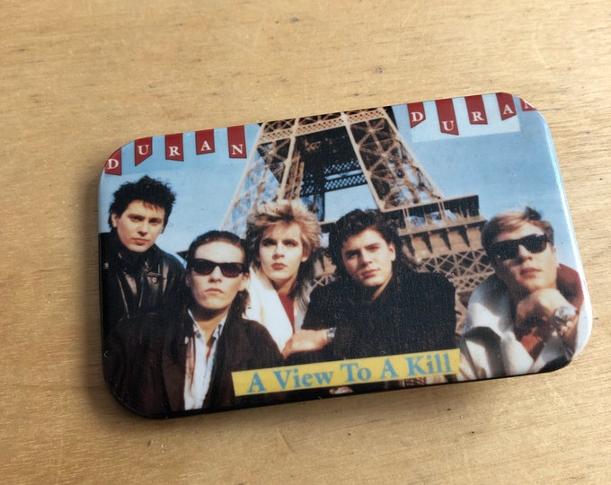 Vintage DURAN DURAN Pin Badge Pinback Collectibles Pins George Michael Arcadia Culture Club Spandau Ballet Tears for Fears John Taylor INXS