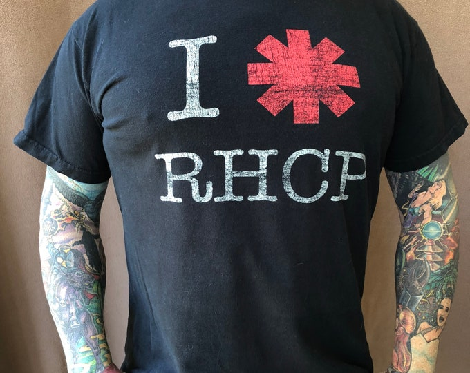 Red Hot Chili Peppers band shirt (M) RHCP Funk Anthony Kiedis Flea John Frusciante Chad Smith Dave Navarro Hillel Slovak Janes Addiction