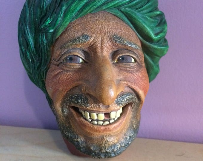 Vintage Bossons Chalkware Head - Kurd 1963 Pirate Collectibles