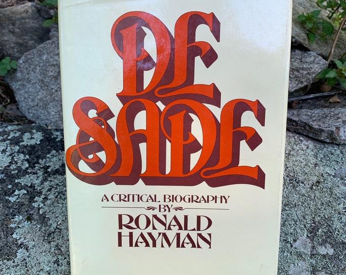 Vintage Marquis De Sade Hardcover Book 1978 Ronald Hayman Gothic History Sadist BDSM Bondage Sigmund Freud Voltaire Sexuality Libertine Sex