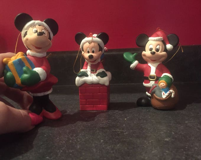 Vintage Walt Disney Co. Kurt S. Adler Mickey Mouse Christmas Tree Ornament Disneyland DisneyWorld Disneyana Disney Collectibles Santa Claus