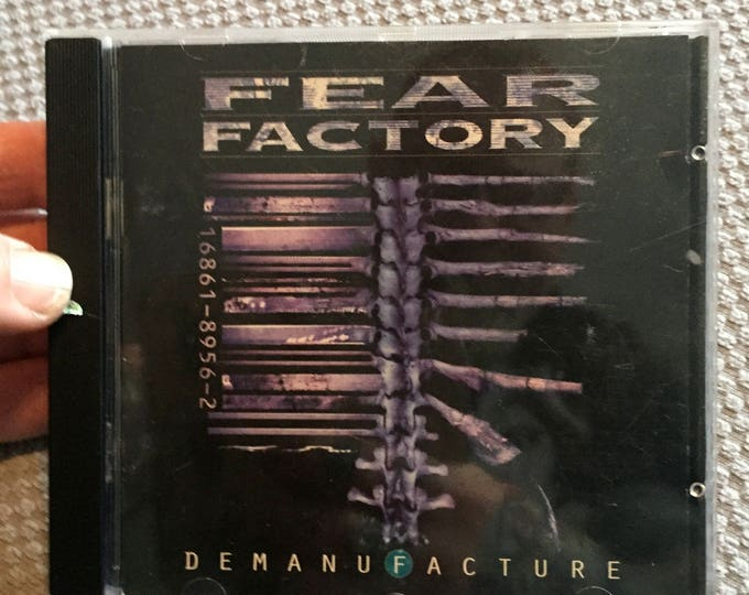 FEAR FACTORY  Demanufacture CD  Metal Prog Metal Metalhead CDs Dino Cazares Divine Heresy opeth soulfly Lamb of God sepultura machine head
